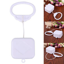 Pull String Cord Music Box White Baby Infant Kid Child Bed Bell Rattle Toy Gift