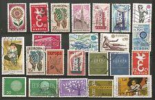 EUROPA un lot de timbres anciens oblitérés /T217