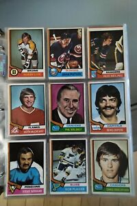 1974-75 O-Pee-Chee OPC Hockey Near Complete Set 285/296