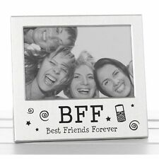 Best Friends Forever BFF Photo Picture Frame Satin Silver Finish Gift 73465