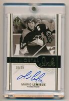 2016-17 SP Authentic Immortal Ink #IIML Mario Lemieux 10/10