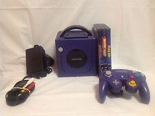 Nintendo GameCube Purple Console Bundle w/ Controller & Games - 8T