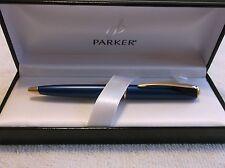 NEW PARKER INFLECTION BLUE & 14K GOLD TRIM BALLPOINT PEN