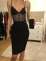 Bandage Skirt Black XS Midi High Waist