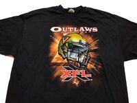 2001 XFL Las Vegas Outlaws DEFUNCT Football Team Logo Shirt Mens 2XL XXL