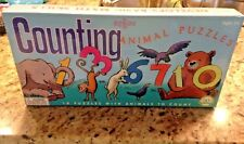 Eeboo Counting Animal puzzle pairs preschool matching learning game       091018