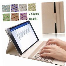 "KVAGO 7 Colors Backlit Keyboard Case Samsung Galaxy Tab S2 9.7"" Gold"