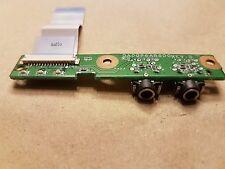 Original Compaq Presario CQ71 Audio Jack Board DA00P6AB6D0 Includes Ribbon Cable