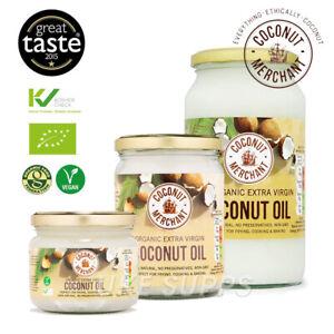 Coconut Merchant Raw Organic Extra Virgin Coconut Oil 35ml / 500ml / 1 Litre