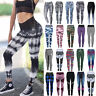 Women Yoga Pants Ladies Fitness Leggings Running Gym Exercise Sports Trousers A0