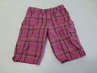 LEI Shorts Girls Size 12 Pink Plaid Adjustable Waist Shorts Great Condition