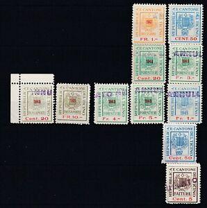 Switzerland Revenue Stamps, TICINO CANTON