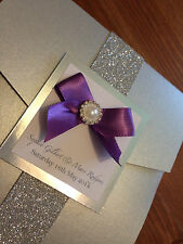 NEW Pocket and Sleeve wedding invitations! Fully personalised, any colour x50