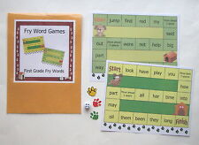 Teacher Made Literacy Center Learning Resource Game First 100 Fry Words