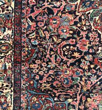 Antique hand knotted wool carpet, 4 x 6, very tightly woven Borchelou with soft