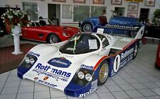 1/10 Porsche 956 962 Group C Rc Car Body Wsc Le Mans + Rothmans Decal tamiya Hpi