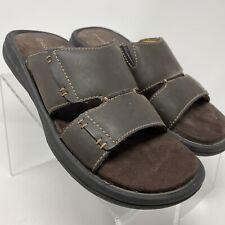 Rockport Brown Leather Comfort Casual Slides Sandals Mens Size 8