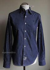 Gestreifte Ralph Lauren hüftlange Langarm Damenblusen, - tops & -shirts