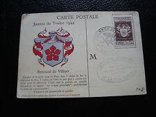 FRANCE - carte 1er jour 9/12/1944 (journee du timbre) (cy54) french (E)