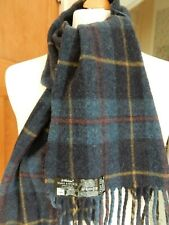 M&S Lambswool Checked Fringed Soft Mens Scarf