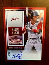 MANUEL MARGOT 2015 PANINI CONTENDERS TICKET SP RC VAR. AUTO /15 PADRES RED SOX