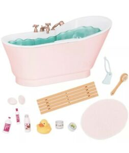 """NIP Our Generation 18"""" Doll Deluxe Bath And Bubbles Tub Set w/ Accessories Sound"""