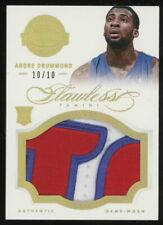 2012-13 Panini Flawless Gold Andre Drummond RC Rookie GU Patch 10/10