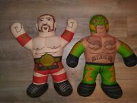 🔥 WWE Brawlin Buddies Rey Mysterio & Sheamus  Talking Plush Wrestling Buddy WCW