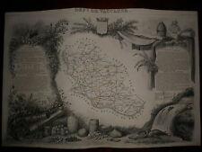 CARTE GEOGRAPHIQUE PUBLIE PAR COMBETTE 1845 / DEPARTEMENT DU VAUCLUSE