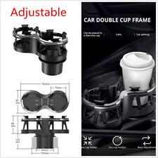 1Pcs Multi-functional Adjustable Universal Car Seat Dual Cup Holder Drink Holder
