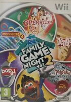 Nintendo Wii- Hasbro Family Game Night Vol2! *Cleaned & Tested!*1 DAY DISPATCH!*