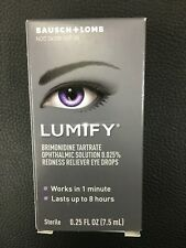 Bausch & Lomb LUMIFY 0.025% Solution .25 fl oz 7.5ml Expires JANUARY 2022  #7251