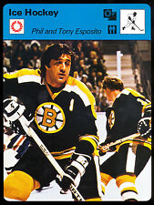 1977 SPORTSCASTER ICE HOCKEY PHIL ESPOSITO NM BOSTON BRUINS MADE IN JAPAN