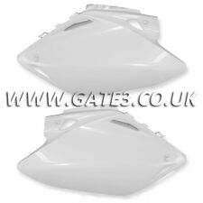 HONDA CRF450R CRF 450 R 2007-2008 WHITE SIDE PANELS NUMBER BOARDS MX PLASTICS