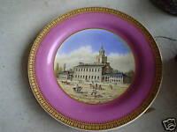 UNIQUE 1800s Staffordshire Plate 1776 Philadelphia PA