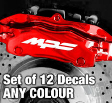 MAZDA MPS Quality Brake Caliper Decals Stickers - ANY COLOUR