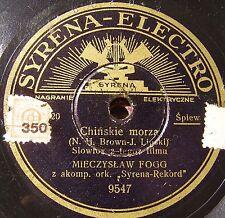 polish 78 RPM-syrena electro-mieczslaw fogg- chinaskie morza- epizod OST-waltz