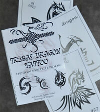 Tribal Dragon Tattoo Sketch Book. Fantastic Designs. 41 Drawings Ready to Use.