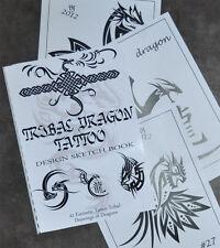 Tribal Dragon Tattoo Sketch Book. fantásticos diseños. 41 Dibujos Listo Para Usar.