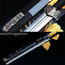 42'1060 CARBON STEEL SHARP BLACK WOOD FULL TANG HAND MADE CHINESE HAN 汉剑 SWORD