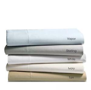 Hudson Park 825 Thread Count QUEEN Flat Sheet STERLING Solid Gray Sateen
