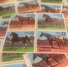 10 Horse Stamps For Holiday, Wedding And Special Occasion Mail