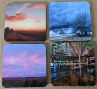 Set of 4 photo drink coasters with cork back original photography approx 4 in