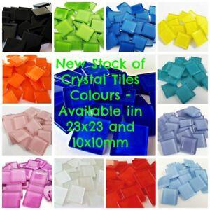 Crystal Tiles 23x23mm - 36 tiles - Choose Your Colour