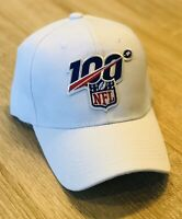 NFL 100th Season Cap Hat 2019 Patch Style Referee Logo White 100 Anniversary