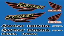 300ex honda decals Black / Red / Yellow Graphics 12pc Stickers ATV Gen1