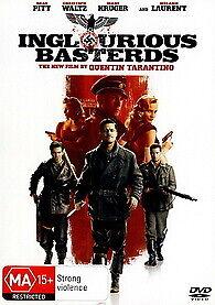 INGLORIOUS BASTERDS DVD - NEW & SEALED TARANTINO, BRAD PITT BASTARDS FREE POST