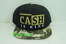 Rocksmith Snapback Camo Brim Cash is King New Adjustable