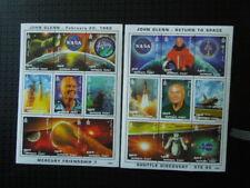 G635    MONGOLIA  1998  SPACE  JOHN  GLENN  2 X  M/S  MNH