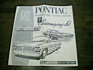 "AMT ""1962 Pontiac CVT ""Original 3-in-1 Model Car Instruction sheet from 1962"